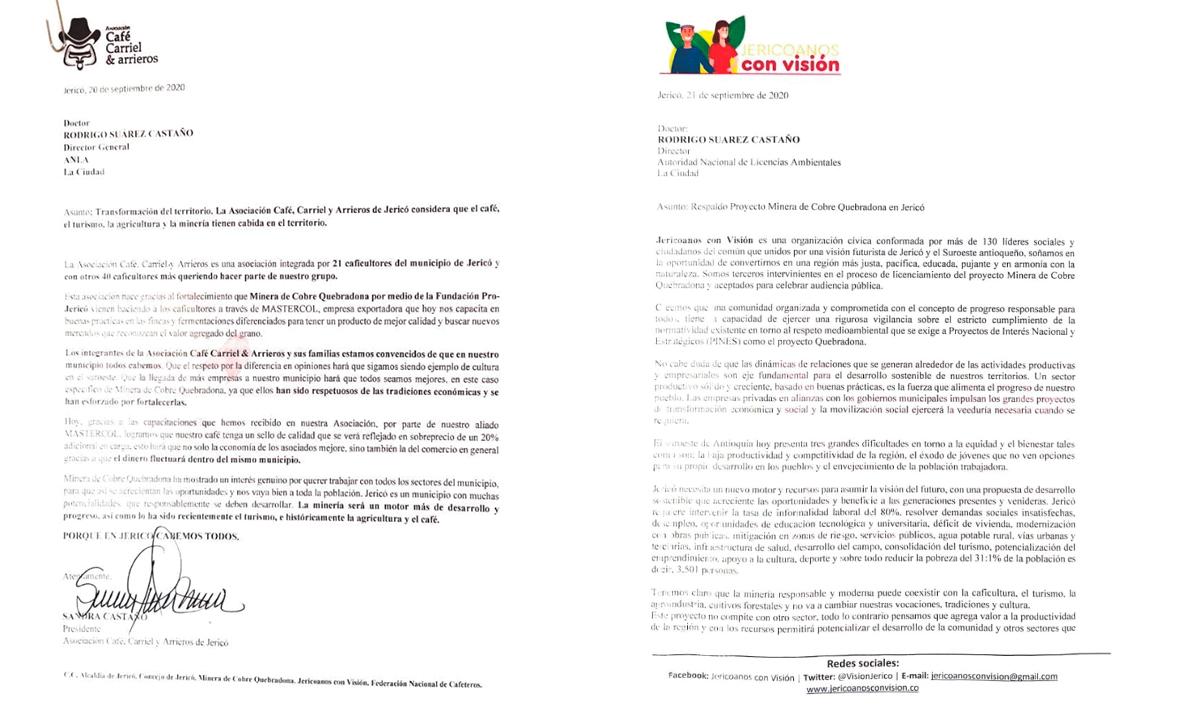 ORGANIZACIONES MANIFIESTAN ANTE LA ANLA SU APOYO AL PROYECTO MINERO