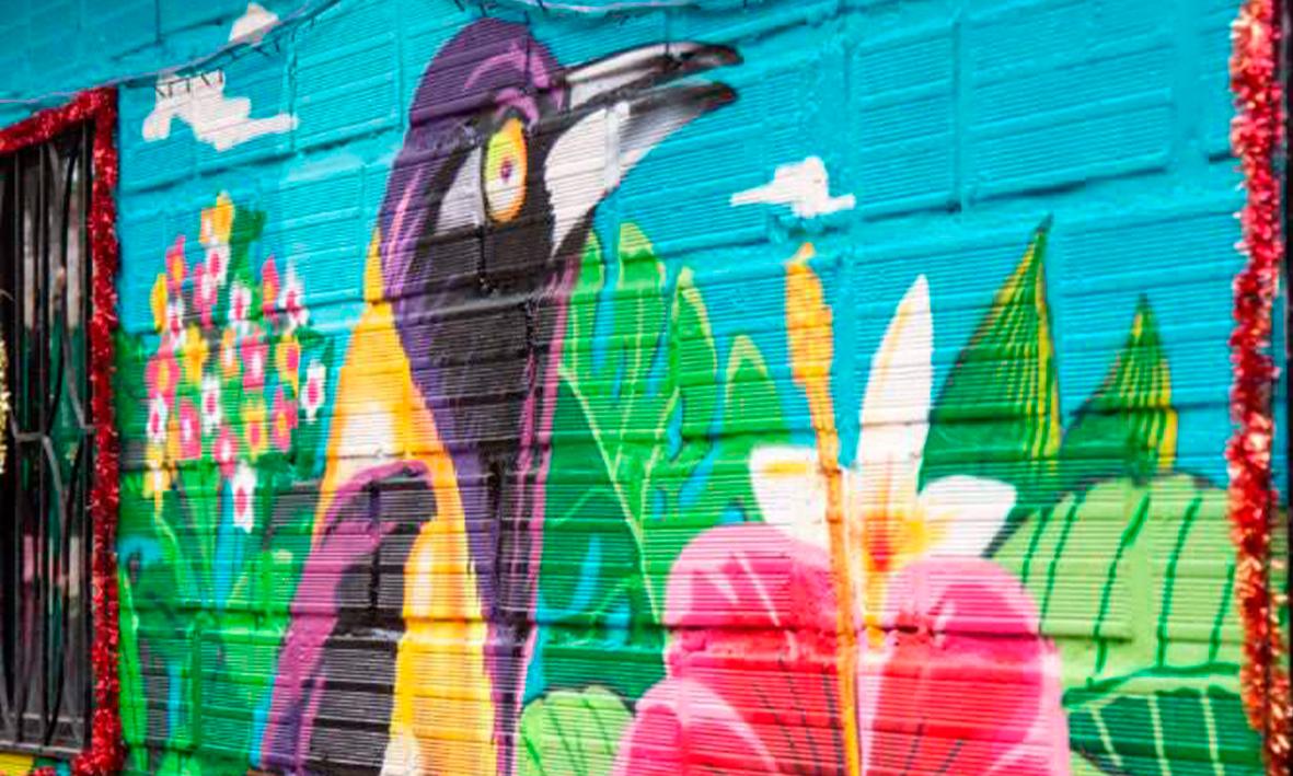 Murales artísticos para el rescate de la memoria en Puente Iglesias